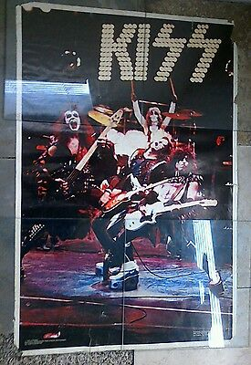 kiss alive poster 1975 Boutwell interprises/rock steady management.