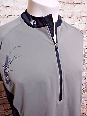 Womens Pearl Izumi Select XXL Cycling base Layer Shirt Top Half Zip Pullover