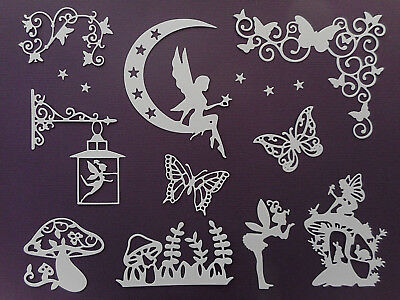 Fairy & Butterfly Set Paper Die Cuts Girls Birthday Embellishments  - Not a Die