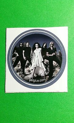 "Evanescence Band Group Photo Amy Lee Music Rare Small 1.5"" Get Glue Sticker"