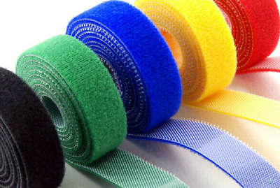 10mm 15mm 20mm Cable Ties Straps Double Sided Hook and Loop Tape Fastener