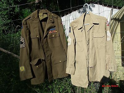 Original WW2 US Army 77th Infantry Division Jacket Group sterling CIB engineer