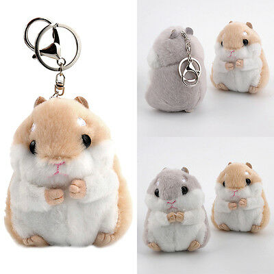Soft Plush Cartoon Small Hamster Toy Doll Key Chain Stuffed Mouse Kids Cute Gift