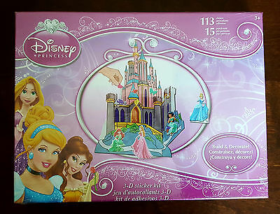 Disney Princess 3-D Sticker Kit 113 Stickers 15 Punch-Outs