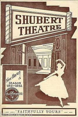 """Ann Sothern """"FAITHFULLY YOURS"""" Robert Cummings 1951 FLOP Tryout Playbill"""