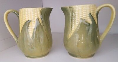 2 Vintage Shawnee Yellow Corn King cream pitchers