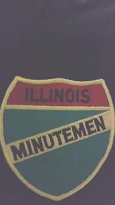 Illinois  minutement  militia  vintage  police  style  patch