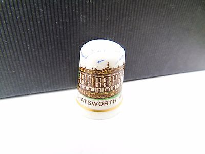 Vintage Chatsworth House  Tourist Pottery Retro Collectable Sewing Thimble