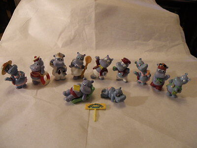 Kinder Surprise 1992 Hippos On Holiday Cruise 11 Figures Plus Rare