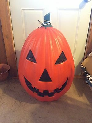 Vintage Pumpkin 30 Inches Blow Mold Holiday Halloween Yard Decor