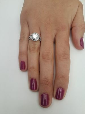 4.26 Ct Round Cut D/vs2 Diamond Solitaire Engagement Ring 18K White Gold