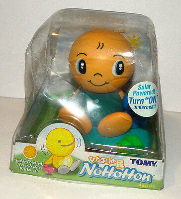 NIB TOMY Nohohon Baby Solar Powered 2003 Yellow Green Blue 4214