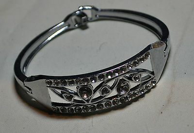 Vintage Sterling Silver gorgeous fine genuine Estate Italy Crystal bracelet