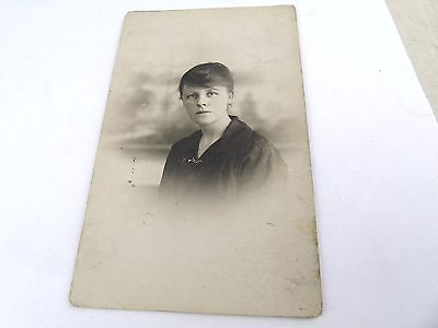 Very Pretty Young Lady  Real Photo Photograph  Postcard