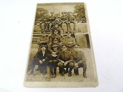 Photo Of Officers And Others World War Ww1 Real Photo Photograph  Postcard