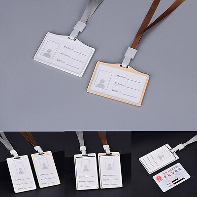 Business Card Work Card Badge with adjustable Lanyard Id Holders For Employee