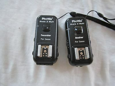 Phottix Strato II 2.4GHz Wireless Hot Shoe Trigger Set for Canon Cameras Used