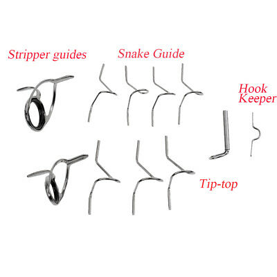 Fly Rod Guide Set Fly Fishing Rod Guide Tip Repair Kit Rings Different Size