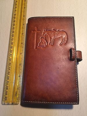Genuine Leather Nocona Book Cover Bible Religious Christian God Free Shipping