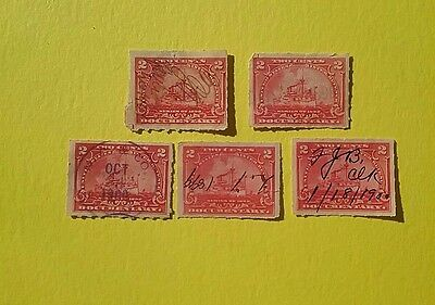 US 1898 Battleships Propriety stamps ( 5 stamps )