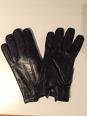 Men's Autum Winter Classic Genuine Leather Gloves  Winter / Bike / Driving Small