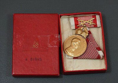 Austria Signum Laudis double Crown Karl WWI Order Medal Military Merit 1917 box