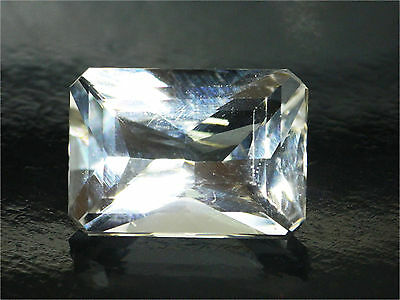 8.42 Ct Certified Loose 100%Natural Octagon Cut White Scapolite Gemstone -14104