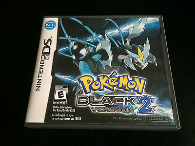 Pokemon: Black Version 2 - Authentic - Nintendo DS - CIB Complete in Box