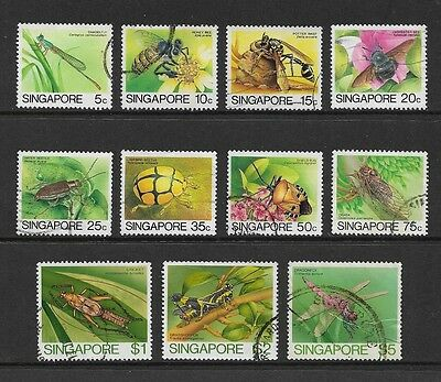 SINGAPORE - 1985 Insects, No.3, to $5, 11 of 12, used