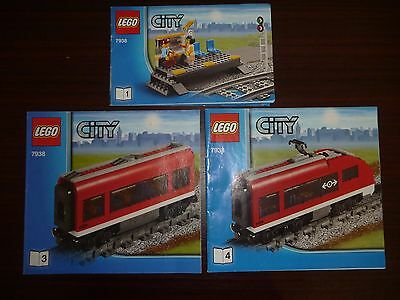 Lego City Train Set 7938 Instruction Manual Books Only - Book 1, 3 & 4