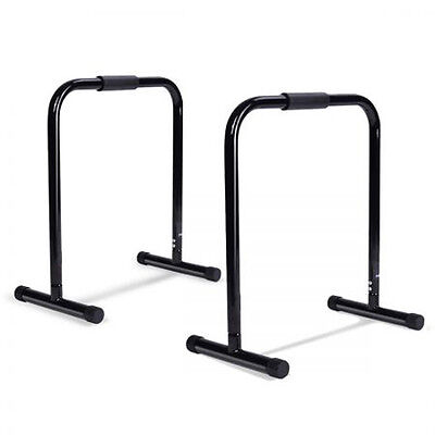 Fitness ChinUp High Parallel Bars Parallette Stand Push Equaliser Cross Training