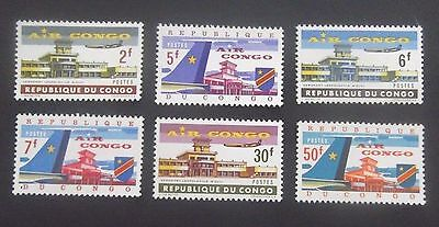 CONGO, DEM REP - SC 462-67, 1963 Air Cargo complete set of 6. MNH CV $3.45