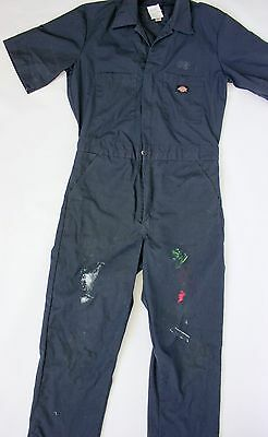 Dickies Short Sleeve Coveralls Coverall Dark Navy Blue SMALL
