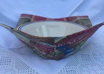 New~Campbell soup cotton reversible Bowl Cozy Microwave safe hot or cold med sz