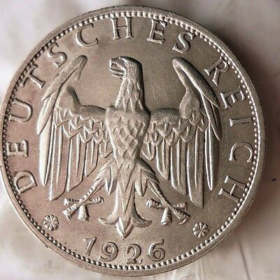 1926 Weimar Germany 2 Reichsmark - Au - Free Ship - German Bin #14