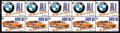 Bmw German Supercar Strip Of 10 Stamps, Bmw M1 #5
