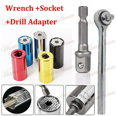 Wrench Set Magic Grip Universal Torque Head Sleeve Socket 7-19mm Spanner E07