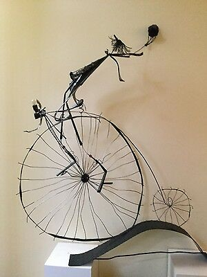 Artistic Metal Sculpture of Penny Farthing Bicycle by Derek Watt