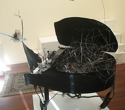 Artistic Metal Sculpture of Grand Piano by Derek Watt