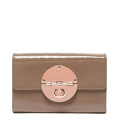 Mimco Turnlock Wallet XL Birch Purse Clutch BNWT Patent Leather rrp $269