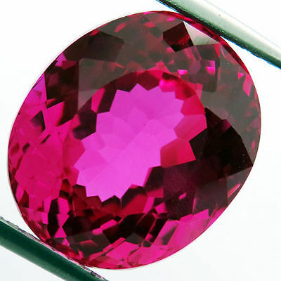 11ctBeautiful RARE Color! Pink Normal  Sapphire Oval 11x14