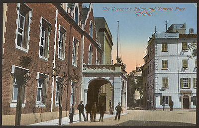 Gibraltar. The Governor's Palace & Convent Place - Vintage Printed Postcard