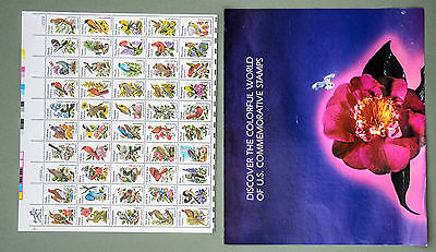 USA 1982 State Birds and Flowers Mint Sheet of 50 stamps Commemorative Folder