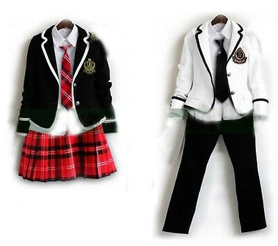 Cosplay England College School uniforms Korean long-sleeved lovers suits sets