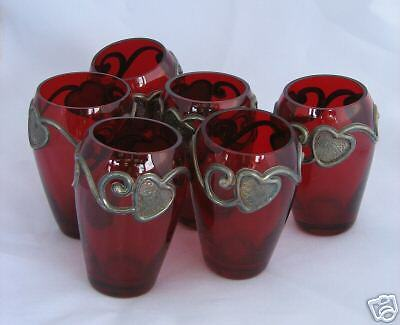 6 oil candlesticks recycling colorful Roman glass