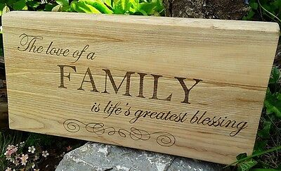 Hand Made Large  Wooden Sign/Plaque Vintage Wall Hanging Shabby Chic Gift