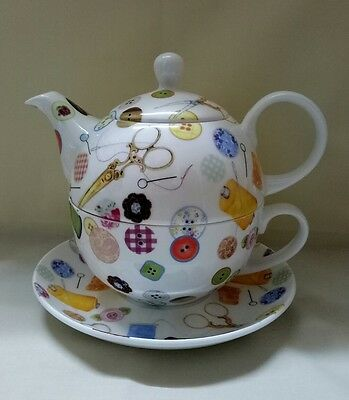Sewing n Button's Fine Bone China Tea for one