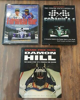 Formula 1 Racing Hardback BOOKS Encyclopedias and Damon Hill Grand Prix Year