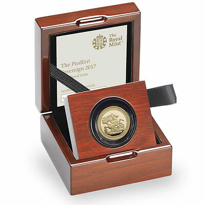 2017 Royal Mint PIEDFORT Gold Proof Sovereign - 1ST TYPE!