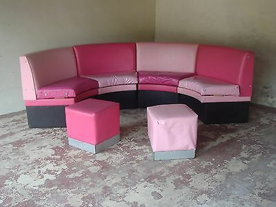 Booth Seating - pink duo vinyl covering